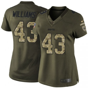 Women's Marcus Williams New Orleans Saints Nike Limited Salute to Service Jersey - Green