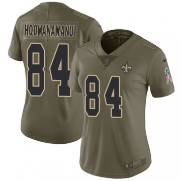Women's Michael Hoomanawanui New Orleans Saints Nike Limited 2017 Salute to Service Jersey - Olive