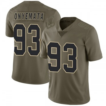 Youth David Onyemata New Orleans Saints Nike Limited 2017 Salute to Service Jersey - Green