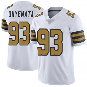 Youth David Onyemata New Orleans Saints Nike Limited Color Rush Jersey - White
